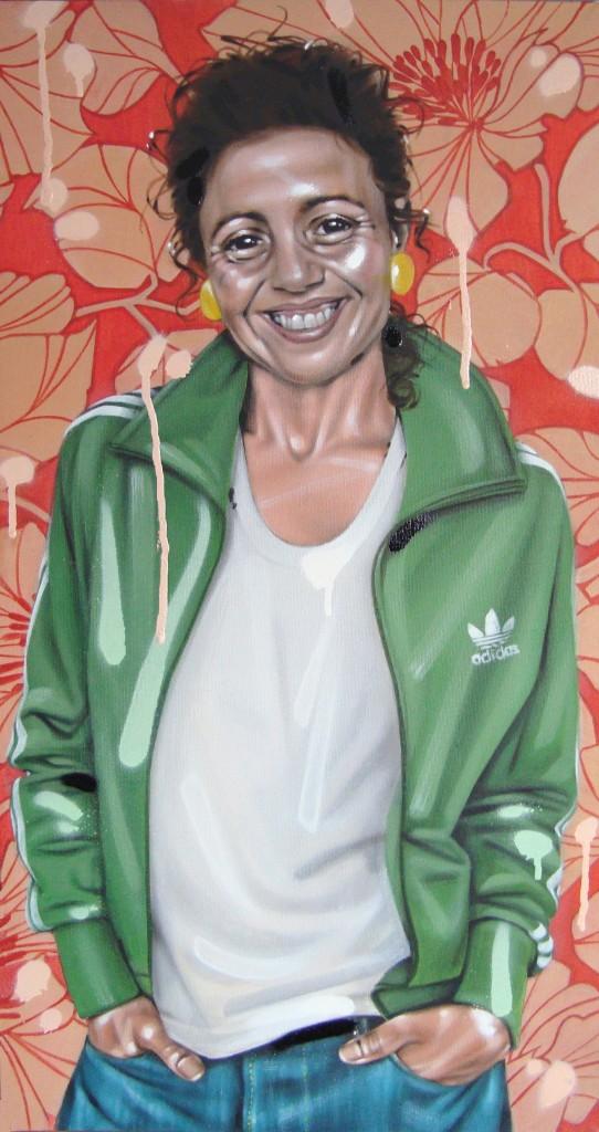 TOUBA. Peinture Acrylic/Spray 36/70cm dans PORTRAITS 21H1112Lcm-542x1024