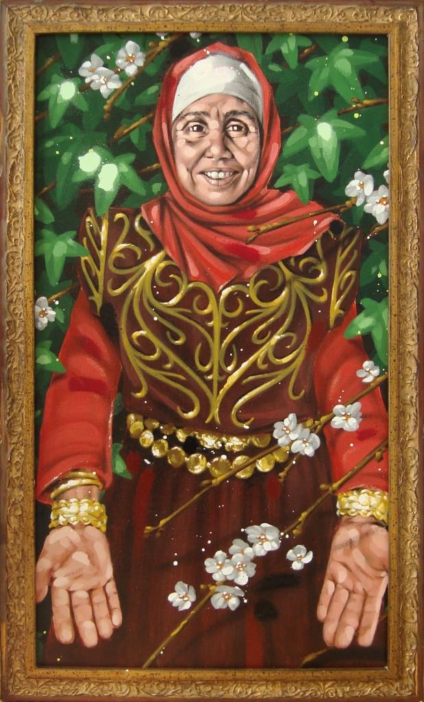 LOUISA. Peinture Acrylique 30/55 cm dans PORTRAITS Louisa-3055cm-619x1024
