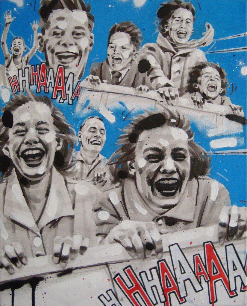 ROLLER COASTER. Peinture Acrylique/Spray, 40/50cm dans PORTRAITS DSC00548-825x1024